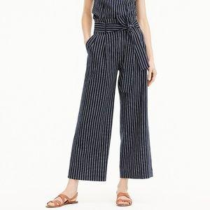 NEW ✨ JCrew Cotton Linen Point Sur Striped Pant 2